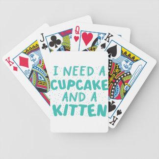 私はカップケーキおよび子ネコを必要とします バイスクルトランプ