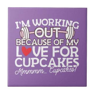 私はカップケーキのための私の愛のために解決しています タイル