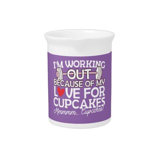 私はカップケーキのための私の愛のために解決しています ピッチャー