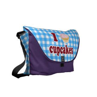 私はカップケーキを愛します メッセンジャーバッグ