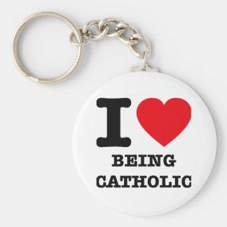 私はカトリック教であることを愛します キーホルダー