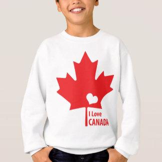 私はカナダのカエデの葉を愛します スウェットシャツ