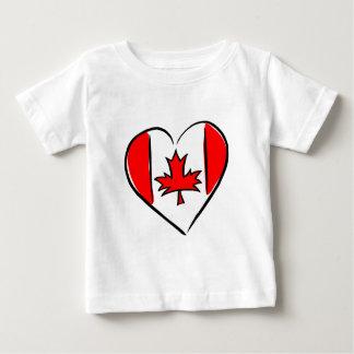 私はカナダを愛します ベビーTシャツ