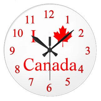私はカナダを愛します ラージ壁時計