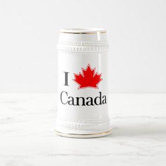 私はカナダステインを愛します ビールジョッキ