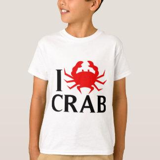 私はカニを愛します Tシャツ