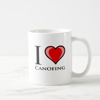 私はカヌーをこぐことを愛します コーヒーマグカップ