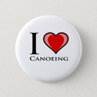 私はカヌーをこぐことを愛します 缶バッジ