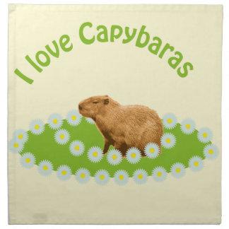 私はカピバラを愛します ナプキンクロス