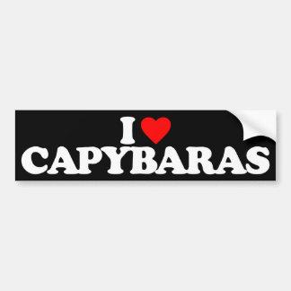 私はカピバラを愛します バンパーステッカー