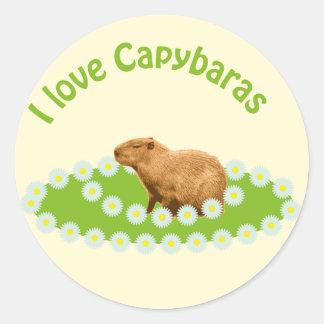 私はカピバラを愛します ラウンドシール