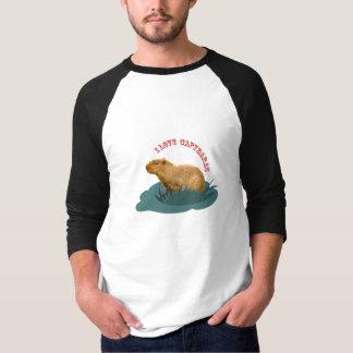 私はカピバラを愛します Tシャツ