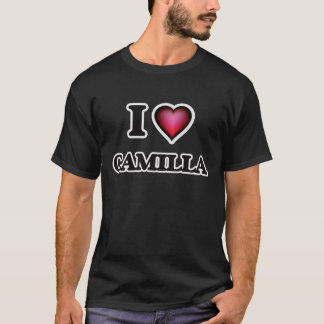 私はカミラを愛します Tシャツ