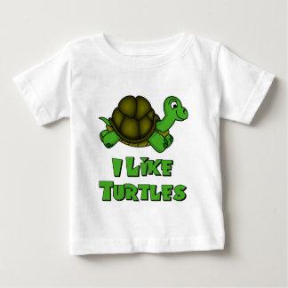 私はカメを好みます ベビーTシャツ