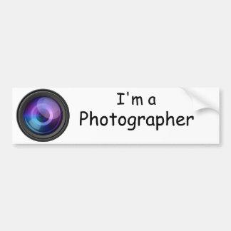 私はカメラマンのバンパーステッカーです バンパーステッカー
