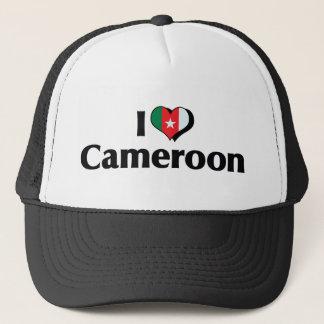 私はカメルーンの旗を愛します キャップ