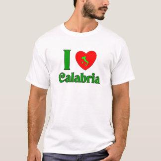 私はカラブリアイタリアを愛します Tシャツ