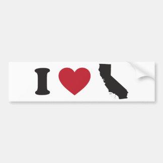 私はカリフォルニアを愛します バンパーステッカー