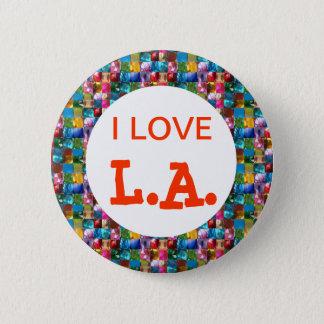 私はカリフォルニアを愛します 5.7CM 丸型バッジ