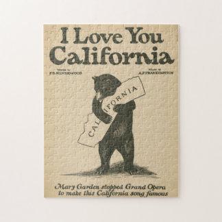 私はカリフォルニア愛します ジグソーパズル