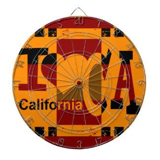 私はカリフォルニア-ポップアート2 --を愛します ダーツボード
