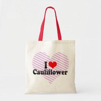 私はカリフラワーを愛します トートバッグ