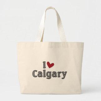 私はカルガリーを愛します ラージトートバッグ