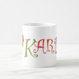 私はカルマを愛します コーヒーマグカップ