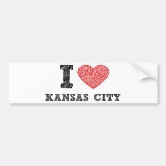 私はカンザスシティを愛します バンパーステッカー