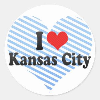 私はカンザスシティを愛します ラウンドシール