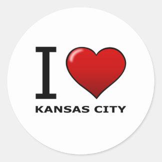 私はカンザスシティ、KS -カンザス--を愛します ラウンドシール