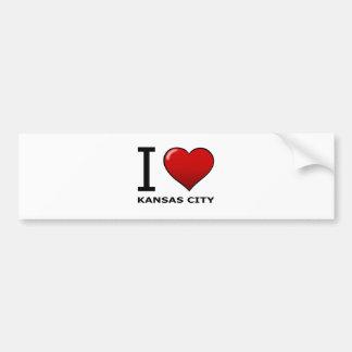 私はカンザスシティ、MO -ミズーリ--を愛します バンパーステッカー
