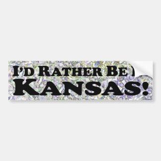 私はカンザス-バンパーステッカーにむしろいます バンパーステッカー