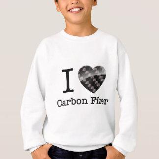 私はカーボン繊維を愛します スウェットシャツ