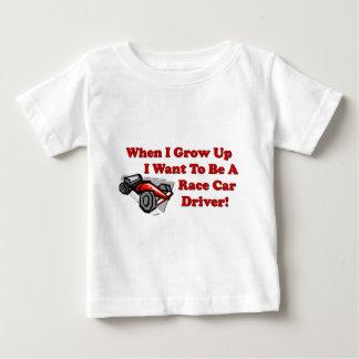 私はカーレースの運転手になりたいと思います ベビーTシャツ