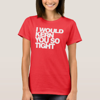 私はカーン、タイポグラフィのTシャツそう堅く Tシャツ