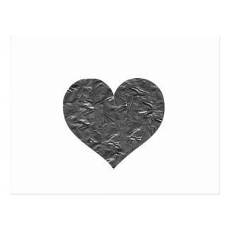 私はガムテープ-ガムテープのハート--を愛します ポストカード