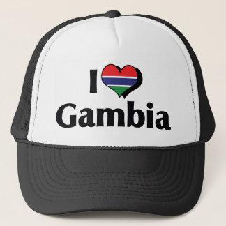 私はガンビアの旗を愛します キャップ
