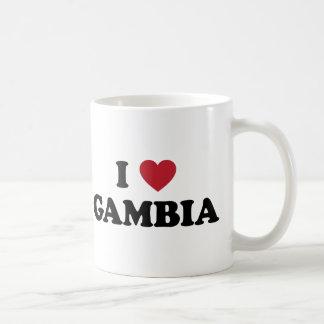 私はガンビアを愛します コーヒーマグカップ