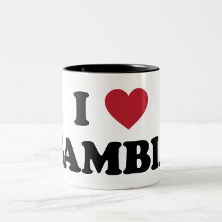 私はガンビアを愛します ツートーンマグカップ