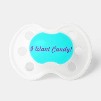 私はキャンデーがほしいと思います! おしゃぶり