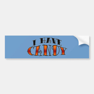私はキャンデーを食べます バンパーステッカー