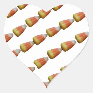 私はキャンデートウモロコシのステッカーを愛します ハートシール