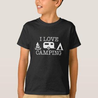 私はキャンプすることを愛します Tシャツ