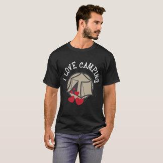 私はキャンプのおもしろいなGlampingのキャンプのTシャツを愛します Tシャツ