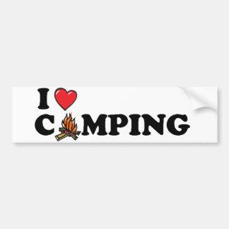 私はキャンプのキャンプファイヤーを愛します バンパーステッカー