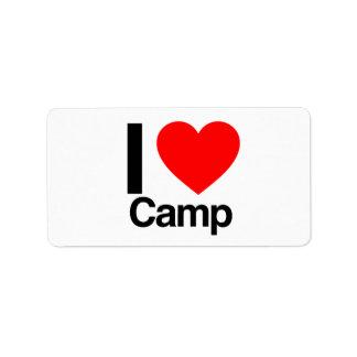 私はキャンプを愛します ラベル