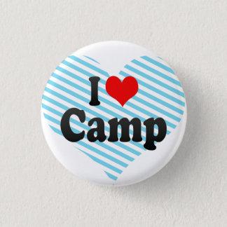 私はキャンプを愛します 3.2CM 丸型バッジ