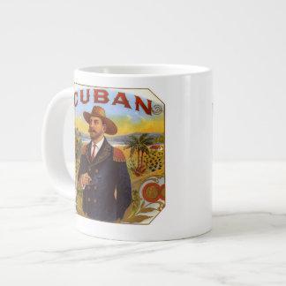 私はキューバのシガーの骨灰磁器のマグを愛します ジャンボコーヒーマグカップ
