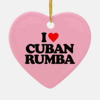 私はキューバのルンバを愛します セラミックオーナメント